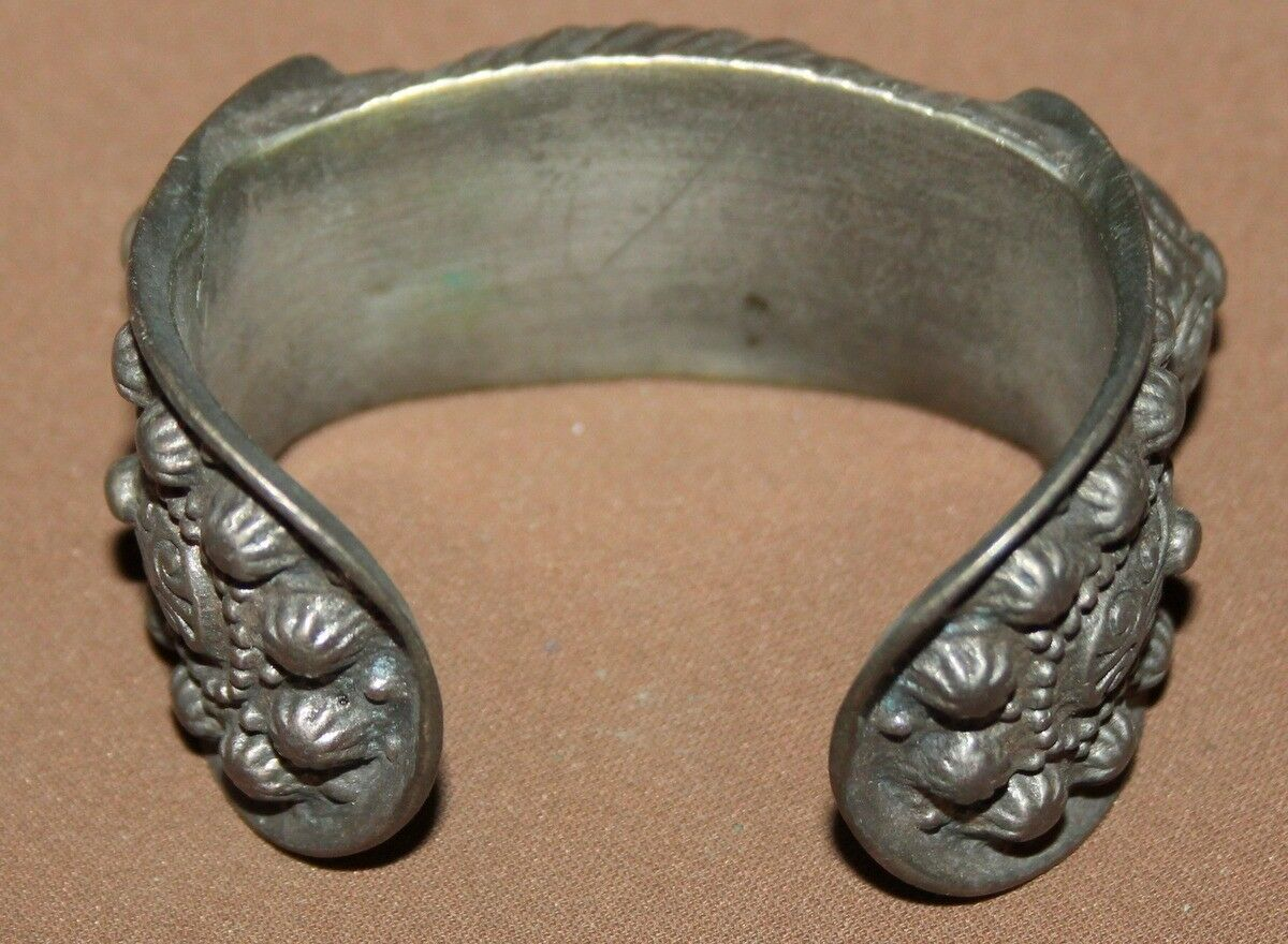 Antique Greek Orthodox silver plated fertility bracelet