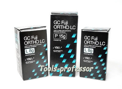 - GC Fuji ORTHO LC light-cure bonding Glass Ionomer Cement liquid 8g / powder 15g