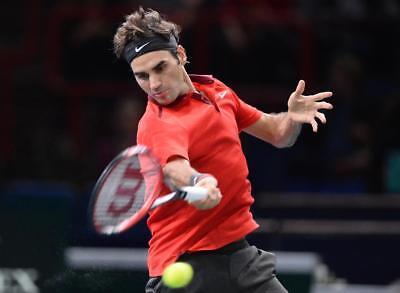 Nike Roger Federer ATP Master Advantage Premier RF Tennis Polo Shirt Red Large