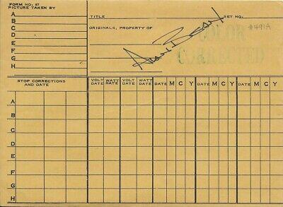 APOLLO 12 MOONWALKER ALAN BEAN HAND SIGNED NASA 7.5 X 5.5 INCH NEGATIVE SLEEVE
