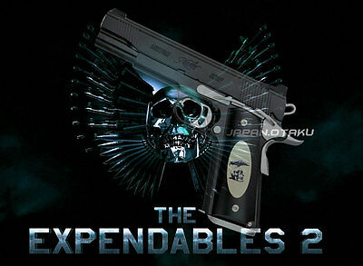 """Limited """"THE EXPENDABLES""""  Kimber GOLD COMBAT II STALLONE Custom Toy"""