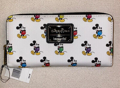 Loungefly Disney Mickey Mouse All Over Print Zip Around Wallet