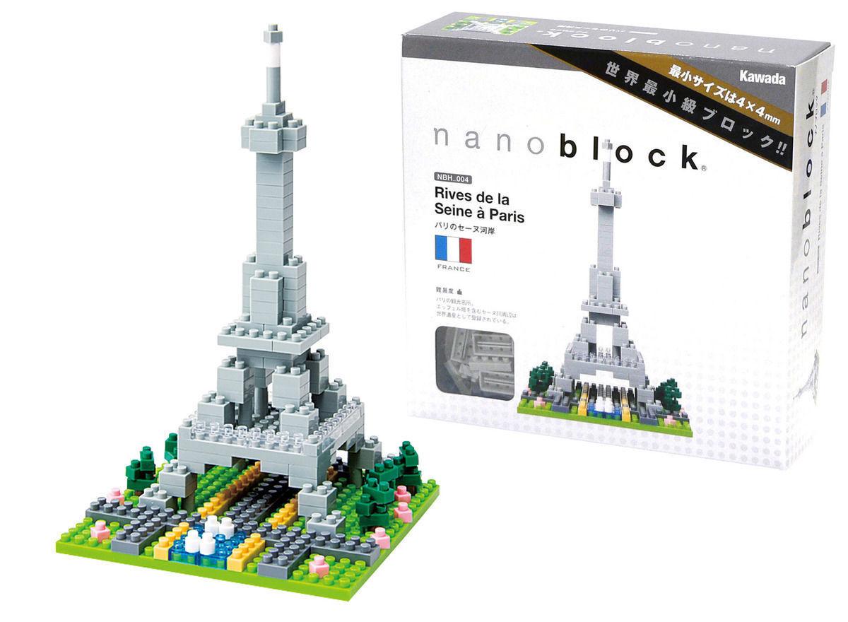 NBH097 Nanoblock RIVES DE LA SEINE À PARIS Building Blocks 310 pieces 12 Years