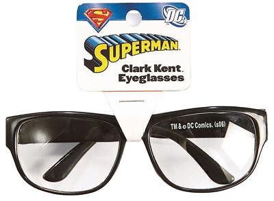 Morris Costumes Plastic Clark Kent Black Glasses. RU6689 - Clark Kent Costumes