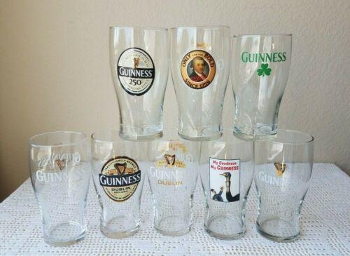 GUINNESS Pint Beer Glasses Set of 8