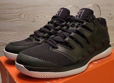 reputable site cce69 3c2ae Nike Air Zoom Vapor X HC Tennis Shoes Black White AA8030 010 Unisex Sizes!
