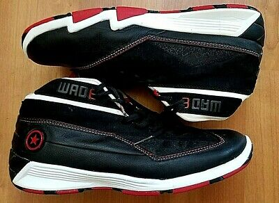 Used, 2009 VINTAGE CONVERSE D WADE 3 MID SNEAKERS, SIZE 10 LEATHER BLACK RED for sale  Shipping to Canada