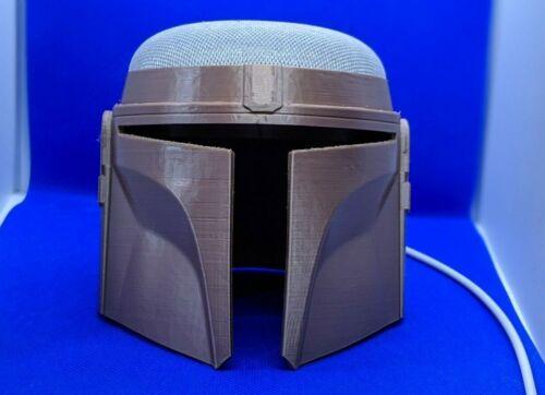 Mandalorian Helmet for Google Home & Nest Mini   Star Wars   Smart Home Stand