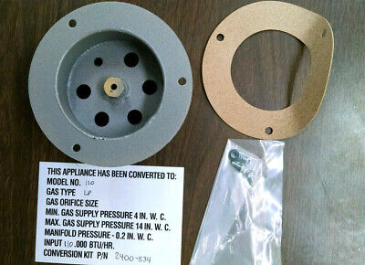 TELEDYNE LAARS 2400-534 COMBUSTION AIR INLET AND GAS ORIFICE