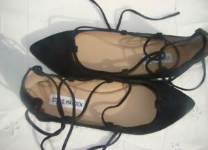 STEVE MADDEN ELEANORR LACE UP FLATS