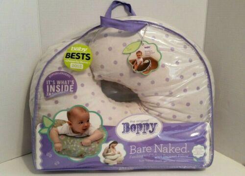 Boppy 'Bare Naked' Nursing Pillow with Purple Dots Plush Slipcover Pottery Barn