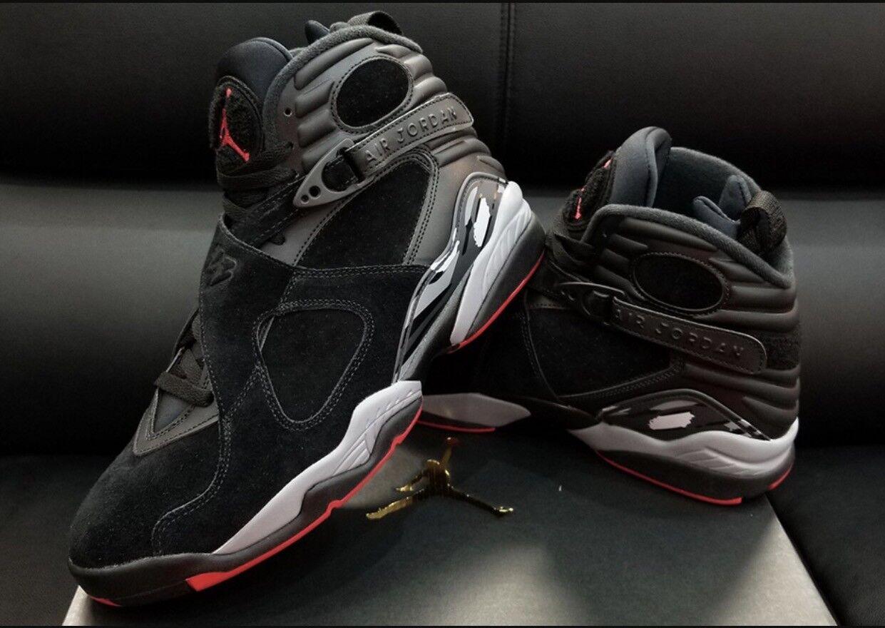 Nike - Nike Air Jordan 8 VIII Retro Black Cement Bred Men's