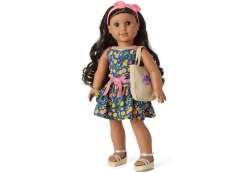 American Girl Fresh Lemons Market Outfit Spring Dress For 18