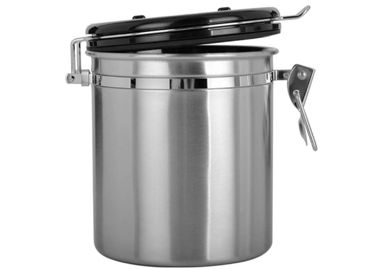 Chef's Star 16 oz Stainless Steel Airtight Canister Coffee V