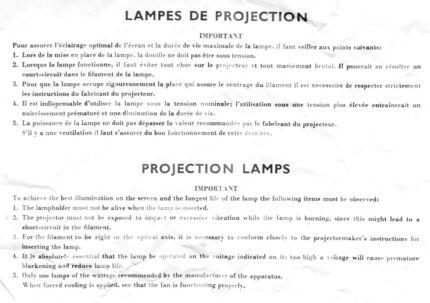 50 Watt 8 Volt projector bulb