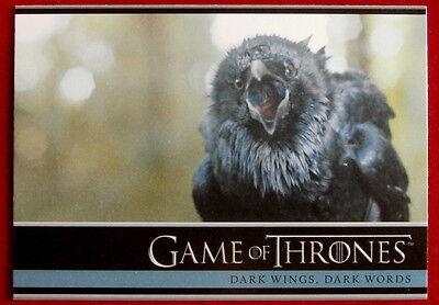 GAME OF THRONES - DARK WINGS, DARK WORDS - Season 3, Card #05 - Rittenhouse 2014