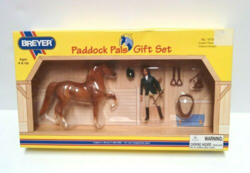 Breyer Paddock Pals Gift Set 1619 English Pleasure Chestnut Morgan