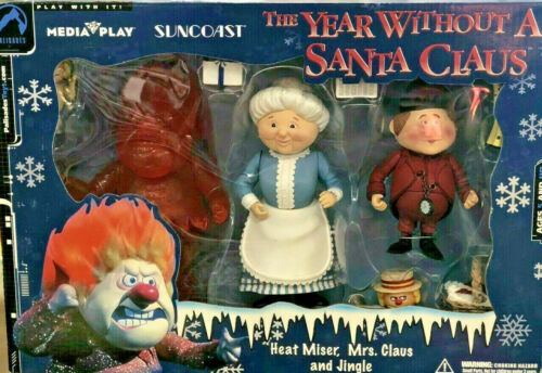 Palisades Suncoast Year Without Santa Mrs Claus Clear Red HEAT Miser Rankin Bass
