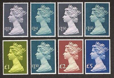 GB GR. BRITAIN 1977-1987 Sc#MH169-176, SG#1026-28 High Value Definitives Mint NH