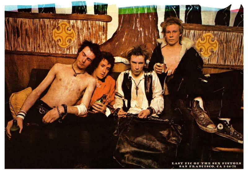 "the Sex Pistols - 24"" POSTER - PUNK Sid Vicious Johnny Rotten - the LAST PICTURE"