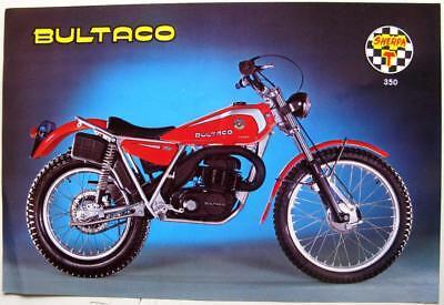 BULTACO Sherpa T350 1977 #199.34.001 Original Motorcycle Sales Sheet