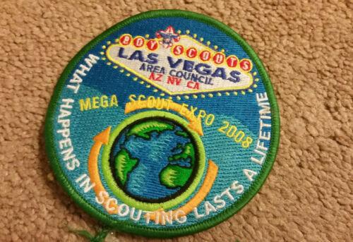 """Boy Scouts Las Vegas Area Council Patch Mega Scout Expo 2008 Round 4"""""""