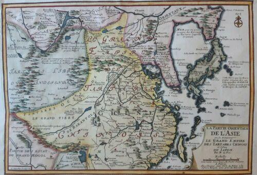 China Korea & Japan map Nicolas de Fer 1705