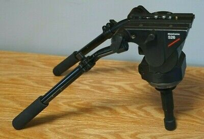 $1299 Manfrotto 526 Pro Video Fluid Head + Two Telescopic Handles & QR Plate