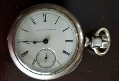 Antique Jewelry & Watches Antique Pocket Watch Fine Silver Big Case Missing Key Thomas Tomlin N#31247 Rare
