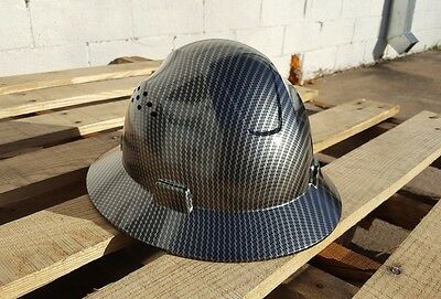 Carbon Fiber Hydro Print Full Brim Hard Hat Added Air Vents Ansiisea Z89.1