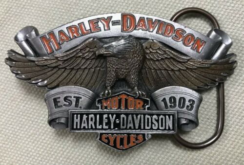 2004 Mens Harley-Davidson Motor Cycles Eagle Biker Belt Buckle