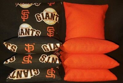 San Francisco Giants Set of 8 Cornhole Bean Bags FREE SHIPPING San Francisco Giants Bean Bag