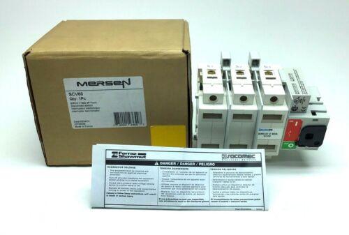NEW MERSEN SCV60 DISCONNECT SWITCH 3-PH 600-V 60-A