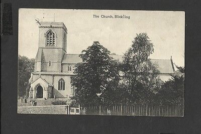 Black & White Old Postcard The Church Blickling Norfolk-used 1914