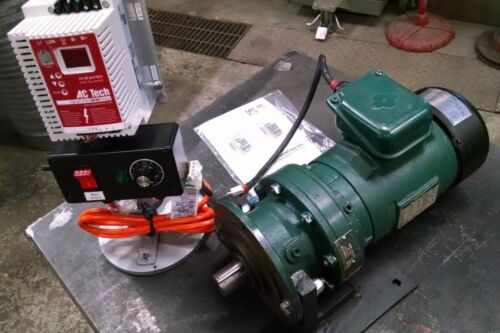SUMITOMO 3 PHASE AC INDUCTION MOTOR with BRAKE & AC Tech Speed Control