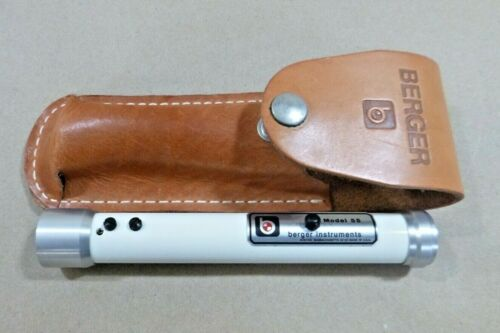 Berger Instruments Model 55 Hand Sight Level W/ Leather Case