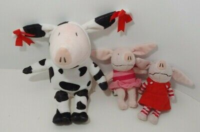 Olivia Pig plush doll lot of 3 cow costume red dress butterfly fairy tutu  Olivia Pig Doll