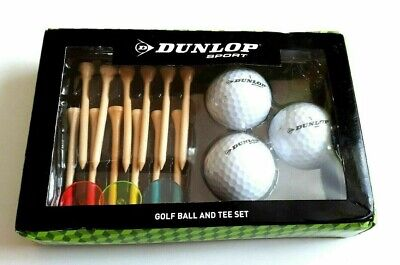 Dunlop Golf Ball Set Wood Tee and Markers in Box R411