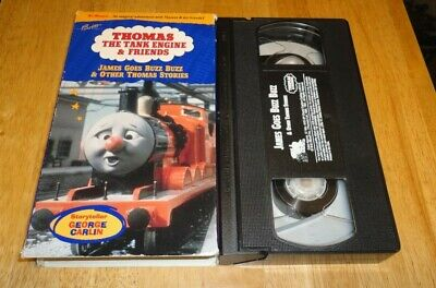 Thomas Tank Engine & Friends James Goes Buzz Buzz (VHS, 1993) Kids George Carlin