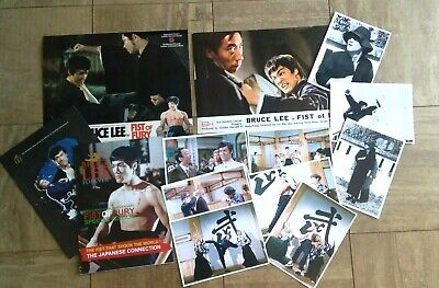 Bruce Lee Fist of Fury package rare lobby cards magazines