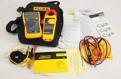 Fluke 116322 Combo True Rms Multimeter Clamp Meter Kit W Leads Case