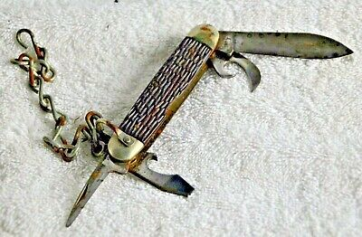Vintage Boy Scouts of America Pocket Knife by ULSTER KNIFE CO 4 Blade