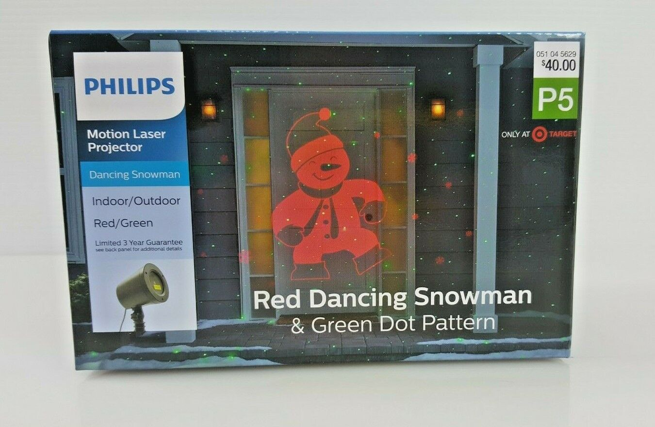 Philips Holiday Motion Laser Projector Dancing Snowman Indoo