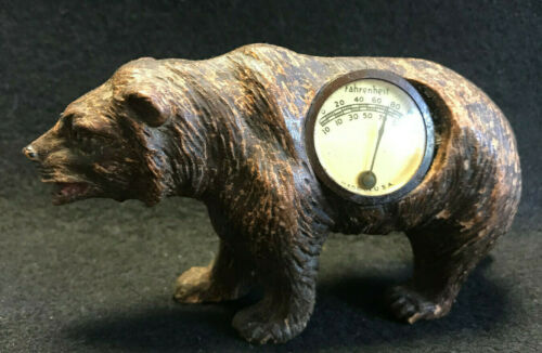 Vtg Walking Grizzly/Brown Bear Thermometer