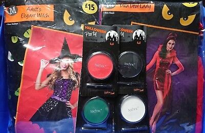 New Halloween Costume Technic Makeup Joblot Diva Devil Lady - S Elegant Witch -M