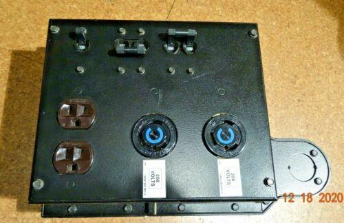 Hubbell Temporary Power Distribution | 30a 208v 231a L6-30r  Twist-lock 125/250v
