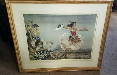 Sir William Russell Flint 1960s Artist's Proof in Color The Danza Montoya