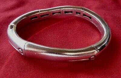STUNNING John Hardy Bamboo Bracelet Sterling Silver - 925 Hinged Bangle - Small