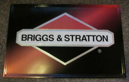 "Vintage Briggs & Stratton Metal Sign 36"" by 23"" Embossed"