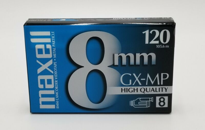 Maxell 8 MM GX-MP High Quality Camcorder Videotape 120 Min. Type 8, NEW
